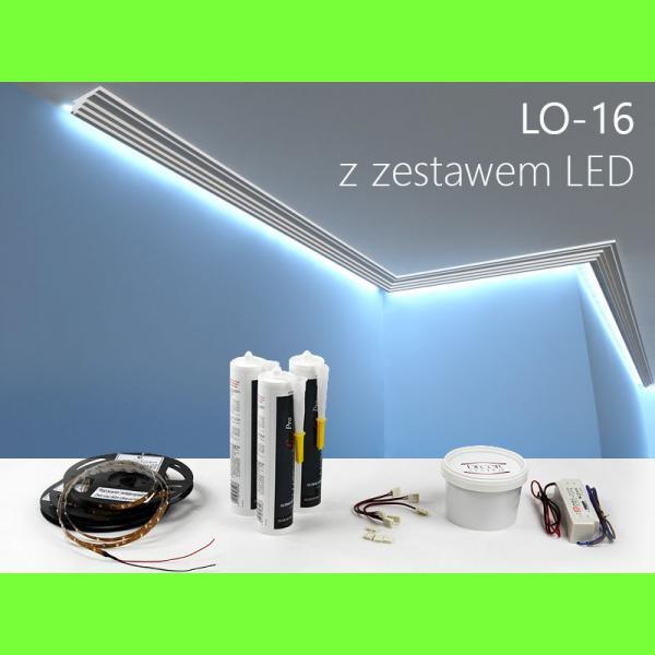 Listwa oświetleniowa LO16 Wysokość 4,7 cm