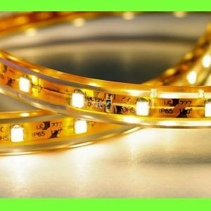 Taśma LED Wodoszczelna super jasna biała (SMD 5050) - rolka 5 metrów, 150/300 LED, samoprzylepna   cm