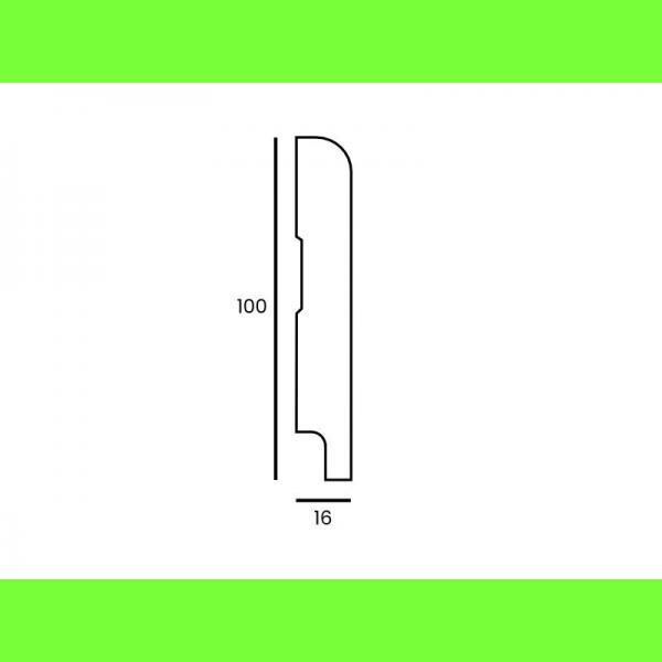 Listwa przypodłogowa MDF wilgocioodporna M85 100x16 Wysokość 10 cm