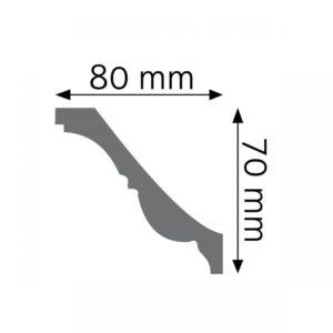 Listwa dekoracyjna przysufitowa LGZ04 Wysokość 7 cm