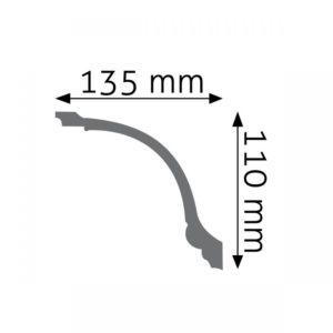 Listwa gzymsowa LGZ05F Wysokość 11 cm