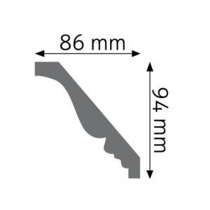 Listwa gzymsowa LGZ09F Wysokość 9,4 cm