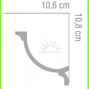 Listwa oświetleniowa MD366 Wysokość 10,8 cm