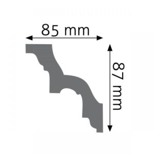 Listwa gzymsowa LGZ01 Wysokość 8,7 cm