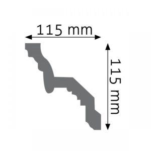Listwa gzymsowa LGZ06 Wysokość 11,5 cm