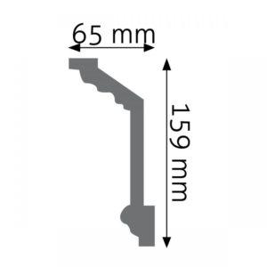 Listwa gzymsowa LGZ08 Wysokość 15,9 cm