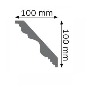 Listwa gzymsowa LGG04F Wysokość 10 cm