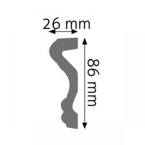Listwa naścienna LNG-03F Wysokość 8,6 cm