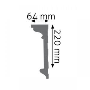 Listwa naścienna LNG-06 Wysokość 22 cm