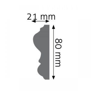 Listwa naścienna LNG-12F Wysokość 8 cm