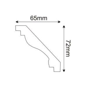 Listwa sufitowa MDA001 Wysokość 7,2 cm