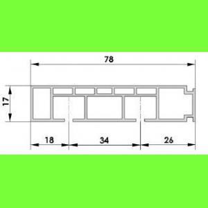 Szyna sufitowa PCV dwutorowa CM2   cm