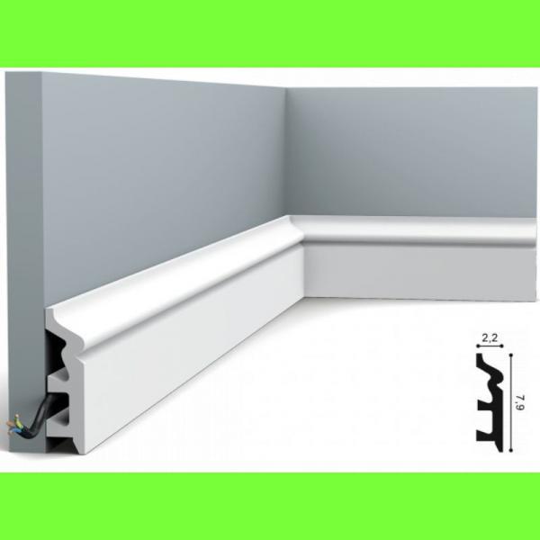 Listwa przypodłogowa SX122 Wysokość 7,9 cm