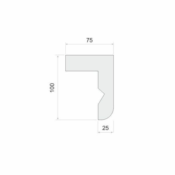 Listwa karniszowa do zabudowy LKO12 Wysokość 10 cm