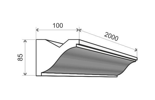 Listwa oświetleniowa ścienna LED LO3 Wysokość 8,5 cm