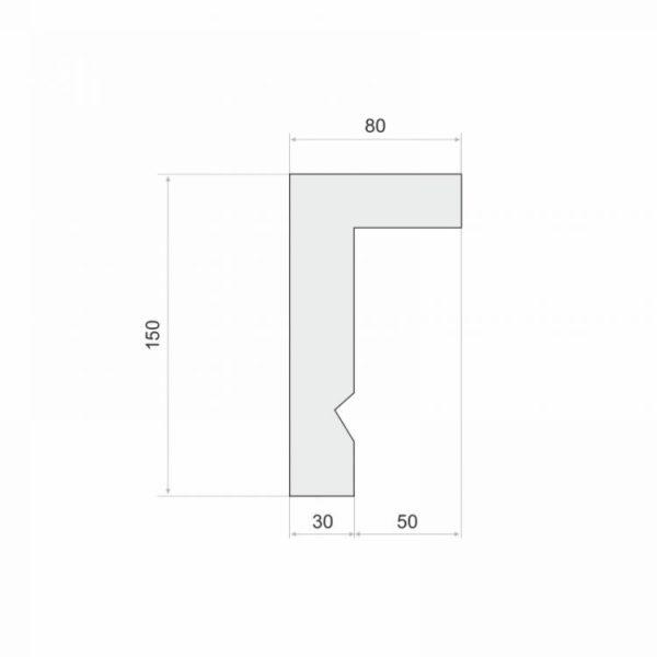 Listwa do zabudowy karnisza LKO3A wysokość 15 cm Wysokość 15 cm