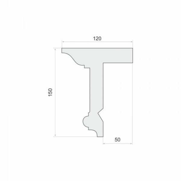 Listwa do zabudowy karnisza LKO11 Wysokość 15 cm