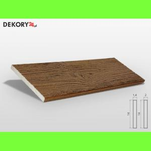 Deska Imitacja Drewna Ciemny Orzech Szerokość: 14 cm