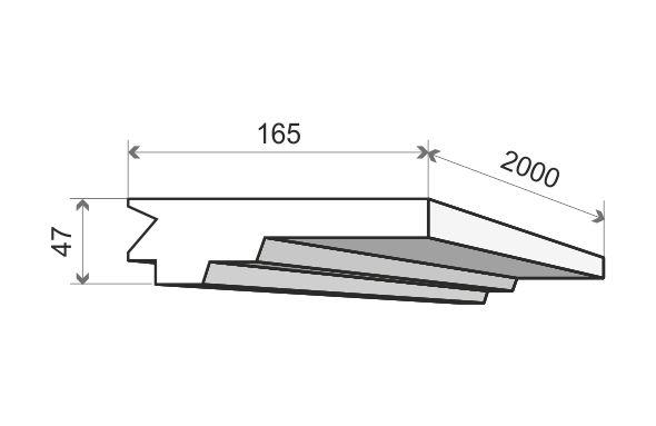 Listwa oświetleniowa sufitowa LO15 Wysokość 4,7 cm